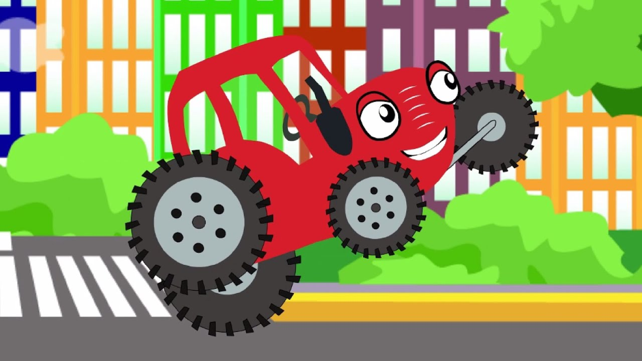 СБОРНИК 1, 2, 3 Тыр Тыр Трактор едет по полям в город серия - Песенки для детей - Тыр Тыр Трактор