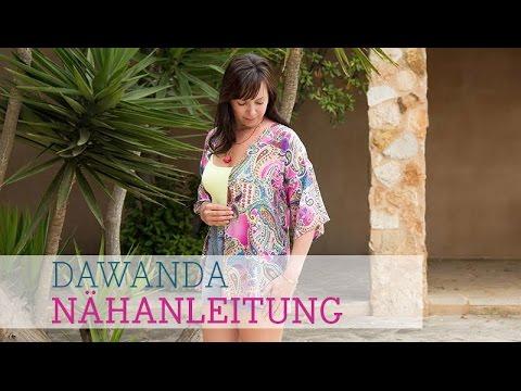 DaWanda Nähanleitung: Kimono Tunika - YouTube