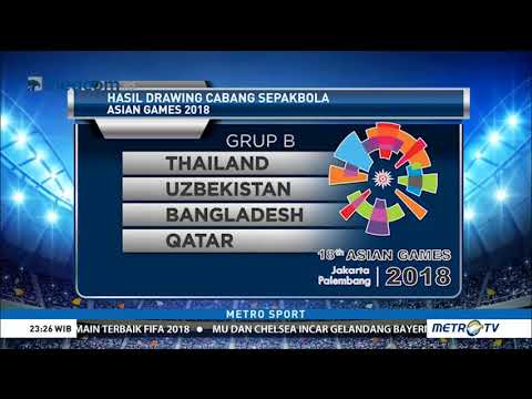 Hasil Drawing Ulang Sepak Bola Asian Games 2018