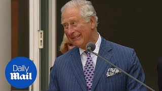 Moment Prince Charles speaks German at Embassy event in Berlin