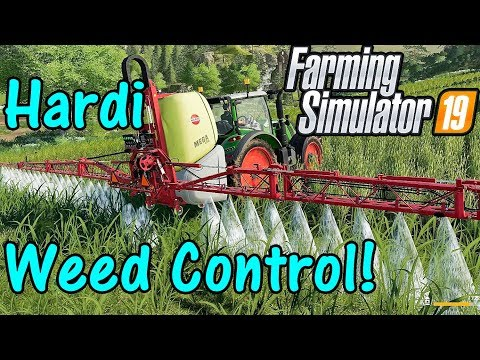Let's Play Farming Simulator 19 #5: Hardi Weed Control!
