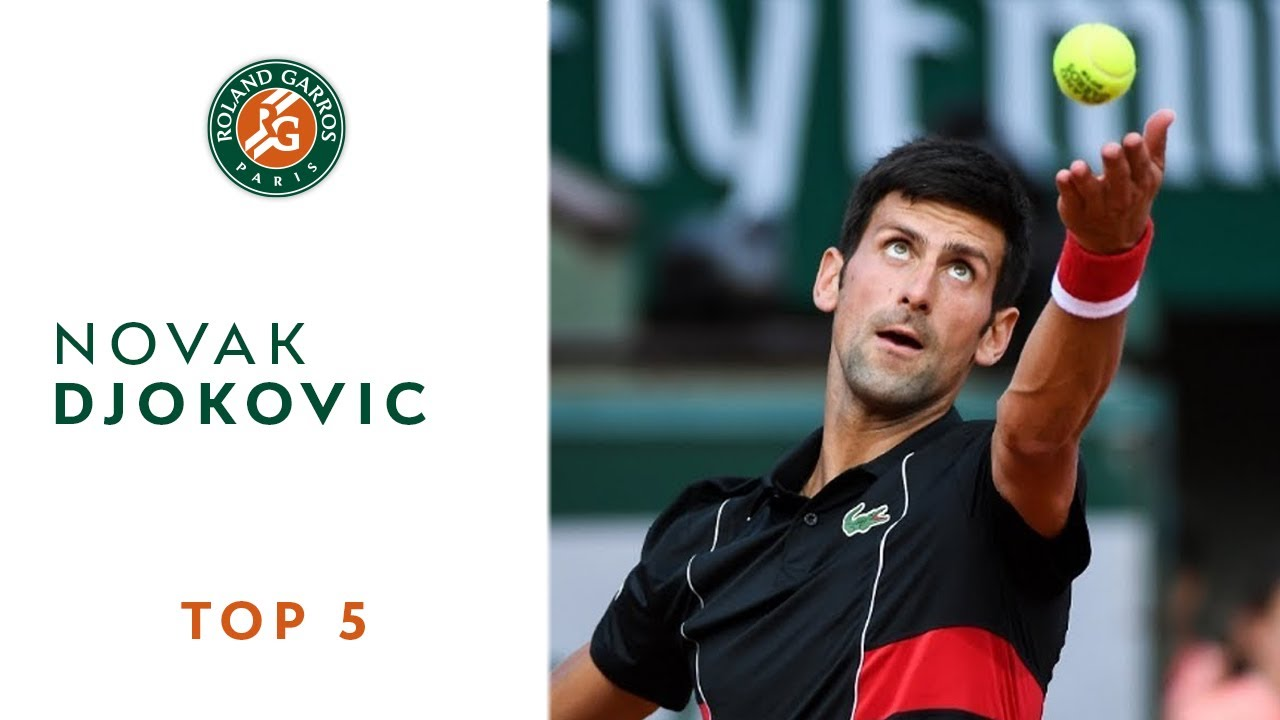Novak Djokovic - TOP 5 | Roland Garros 2018