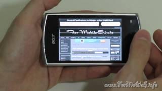Presentazione generale e focus di alcuni browsers su Acer Liquid Mini E310