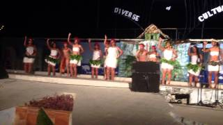 kiribati &chiles student performing rapanui in cuba