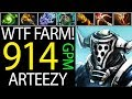 Arteezy Showoff Farming Skill 914 GPM Pro Carry of Dota 2