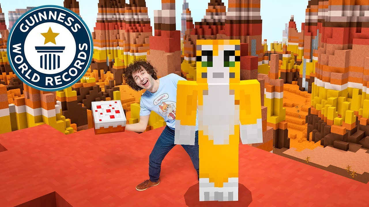 Watch Youtuber Stampy Cat set his new world record on Minecraft