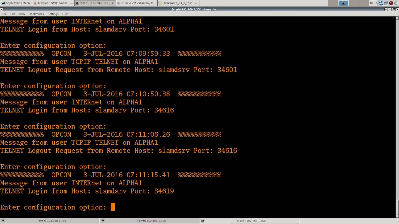 OpenVMS 8 4 Alpha using es40 emulator  Part 2    TCP and installing  compilers