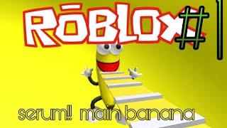 Fun eating banana-ROBLOX Indonesia 🇮🇩🇮🇩