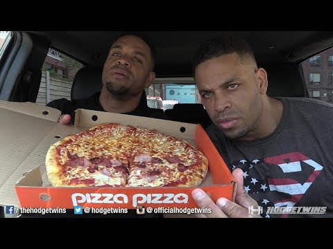 Eating at Toronto's Pizza Pizza @hodgetwins