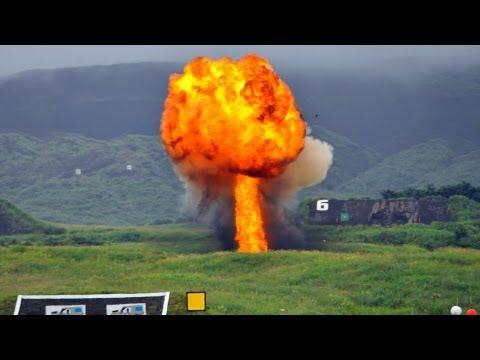 【航空自衛隊】F-2戦闘機によるJDAM レーザー誘導対地精密爆撃|Japan's F-2 LJDAM Bombing JASDF