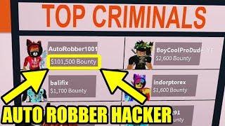 ARRESTING a 100,000 BOUNTY AUTO ROBBER | Roblox Jailbreak