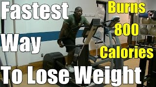 Fastest Way to Lose Weight = This 40min HIIT Elliptical Workout (Burns 800 calories)