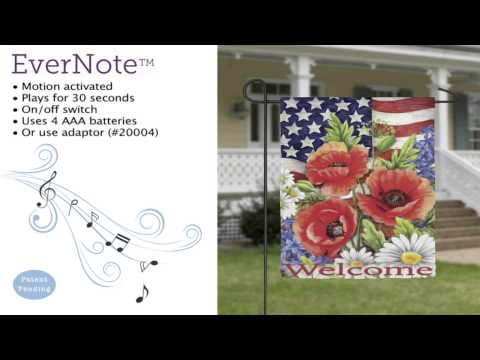 Evernote™ Garden Flag - 14EN3422 Patriotic Flowers