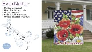 Evernote™ Garden Flag - 14EN3422 Patriotic Flowers Thumbnail