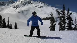 Катание в лесу на сноуборде