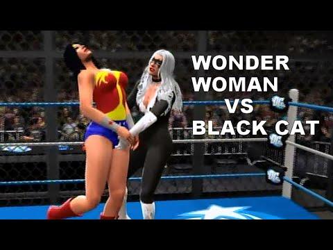 WWE Wonder Woman vs Black Cat