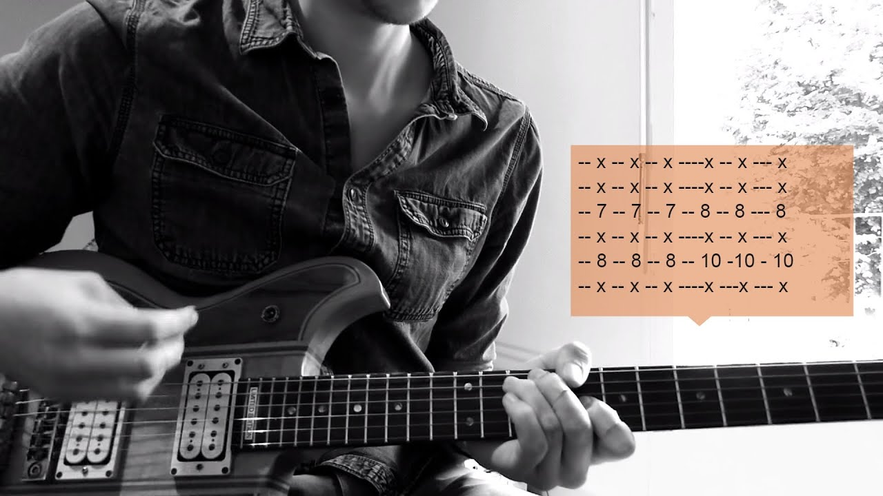 Muse Dead Inside Guitar Cover Hd Solo Accurate Ending Chords