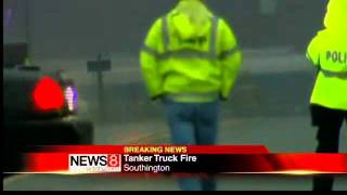 Tanker fire in Southington