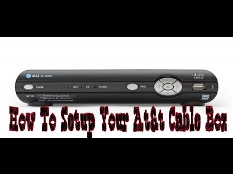 How To Setup Your Att U-Verse Cable Box - YouTube