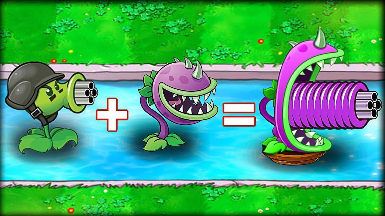 Plants vs Zombies Fusion : Gatling Pea + Chomper