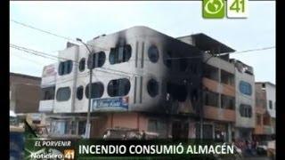 Incendió consumió almacen - Trujillo