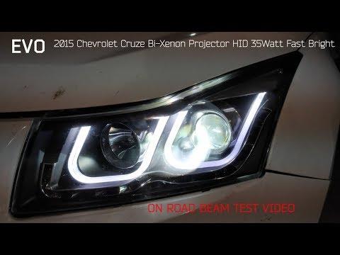 EVO Visibility : 2015 Chevrolet Cruze Bi-Xenon Projectors On Eagle Eyes Brightness Test