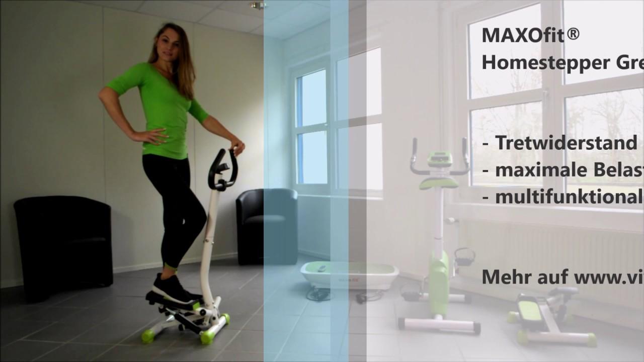 maxofit homestepper greenline mf 15 mit handgriff youtube. Black Bedroom Furniture Sets. Home Design Ideas
