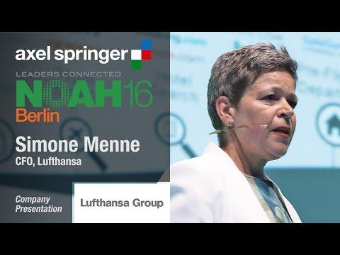 Simone Menne, Lufthansa Group - Axel Springer NOAH16 Berlin