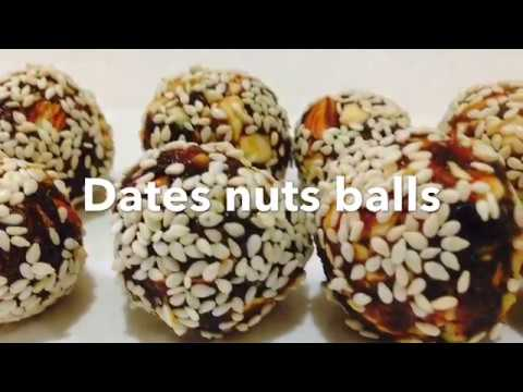 Dates Nuts Ball / Dates Nuts Sesame Rolled Balls.