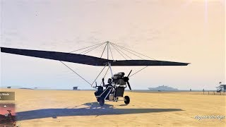 """E234 Our Ultralight """"Stealth"""" Glider Customization & Review! - Lets Play GTA 5 Online PC 60fps"""