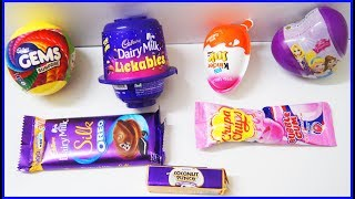 Kinder Joy Surprise Egg Toys Cadbury Dairy Milk Lickables Gems Ball Learn Colors And Nursery Rhymes thumbnail