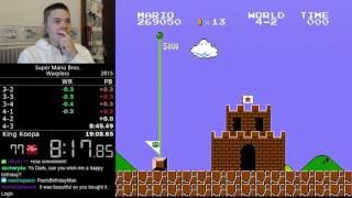 (19:07.16) Super Mario Bros. Warpless speedrun