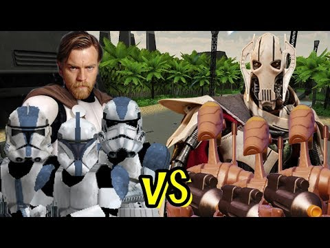 Obi Wan And The 501st Vs General Grievous And Battledroids