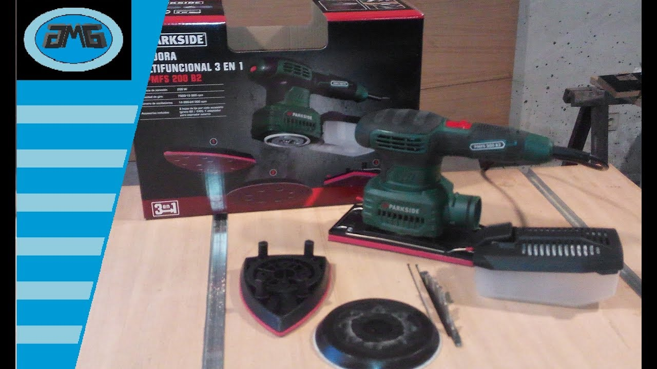 Parkside multi functional sander pmfs 200 b2 3 in 1 for Levigatrice a penna multifunzione parkside