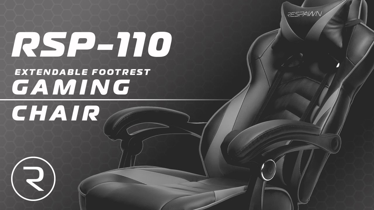 Ergonomic Chair With Footrest Posture Care Respawn 110 Racing Style Gaming Reclining Leather