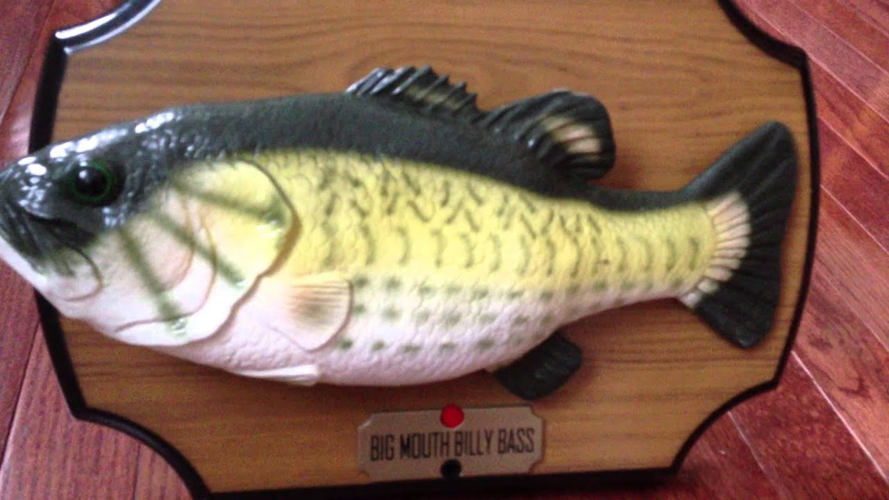 Big mouth billy bass the singing sensation youtube for Big mouth billy bass singing fish