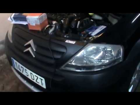 Citroen C3. Change diesel fuel filter. Diesel filter. Video 16 of 20.