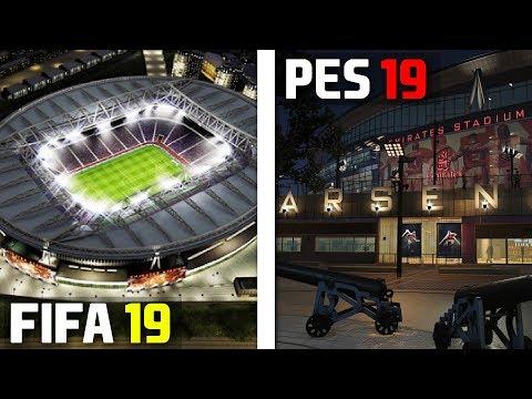 FIFA 19 vs PES 2019: Stadiums (Emirates, Anfield, San Siro, etc)