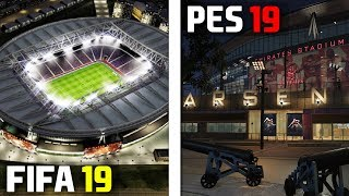FIFA 19 vs PES 2019: Stadiums (Emirates, Anfield, San Siro, etc)