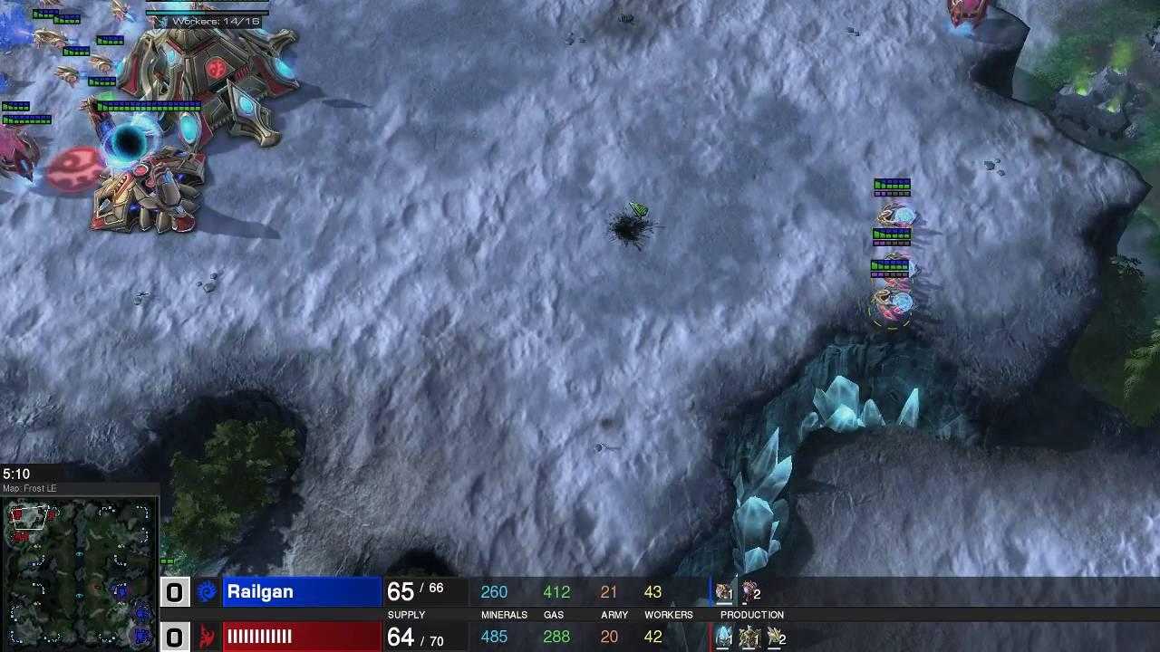 StarCraft 2 ZvP Hatch Muta Vs 3 Nexus Adept