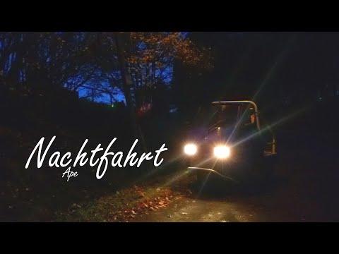 Nachtfahrt mit der Piaggio Ape 50