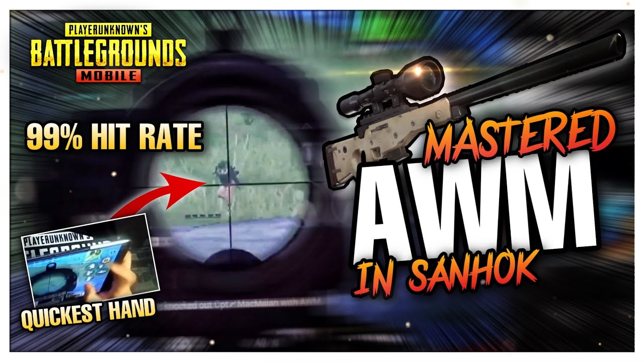 Finally, I Masterd AWM! Perfect Scoping in SANHOK?! - PUBG MOBILE