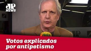 Migração de votos pode ser explicada por antipetismo, afirma Augusto Nunes