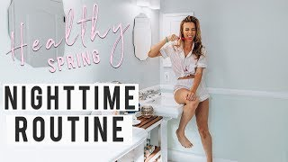 My Real HEALTHY Spring Nighttime Routine 2019 | Life Hacks + Meal Prep