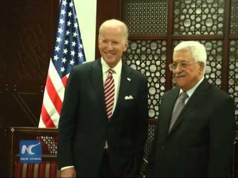 Jooe Biden meets Palestinian Pres Mahmoud Abbas