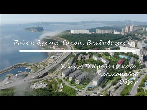 Район бухты Тихой. Владивосток. Ул. Добровольского, Космонавтов, обзор.