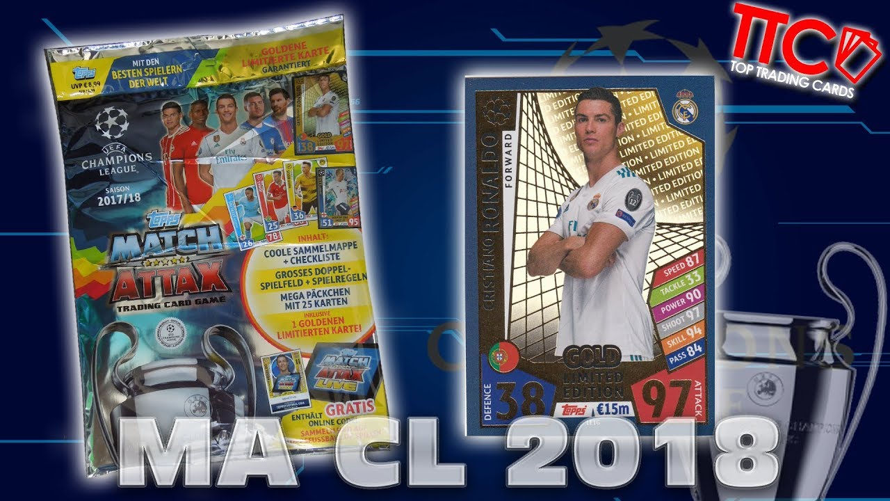 Nordic Edition Match Attax Topps Premier League 2017//18 Display mit 50 Booster