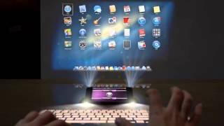 Концепт iPhone 5 с проекционной клавиатурой и дисплеем