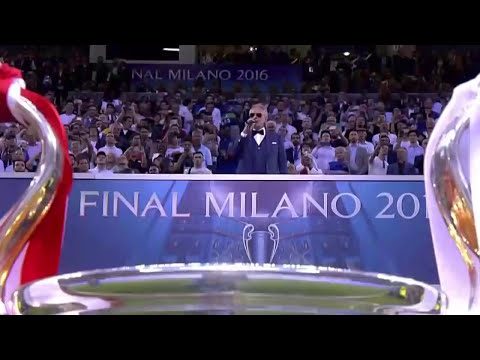Andrea Bocelli - Now We Are Free (Gladiator) | Final Champions 2016 Real Madrid - Atlético de Madrid