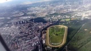 Франкфурт на Майне. Вид на город с высоты самолета.
